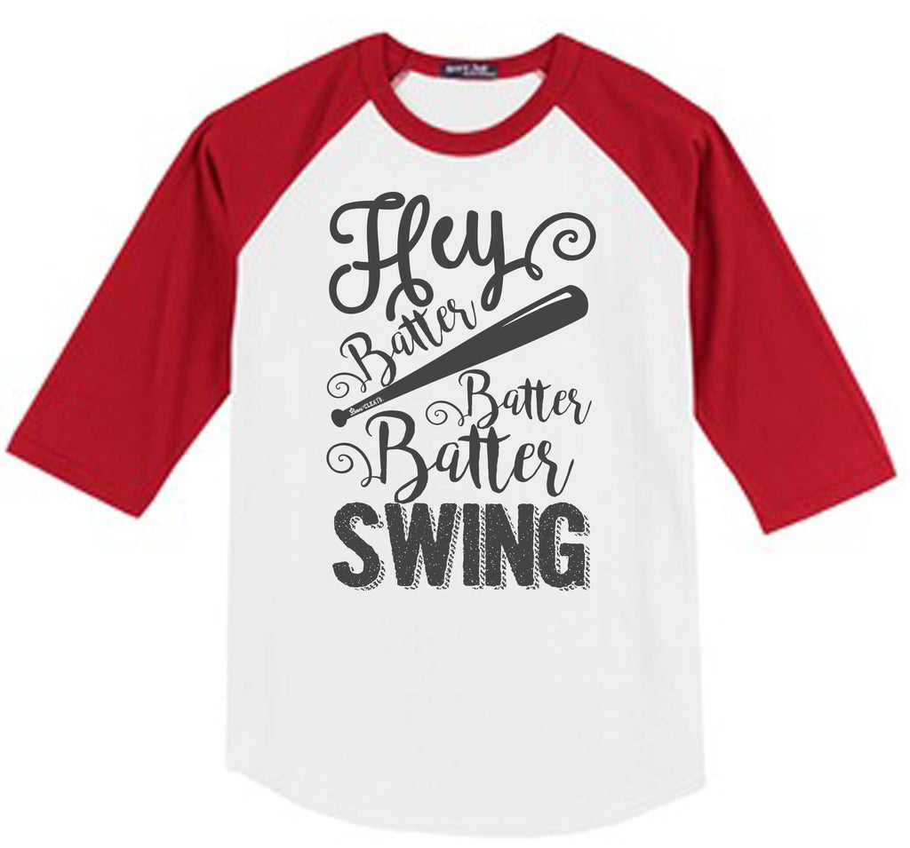 Hey Batter Raglan Red Jersey