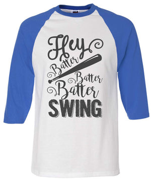 Hey Batter Raglan Royal Blue Jersey