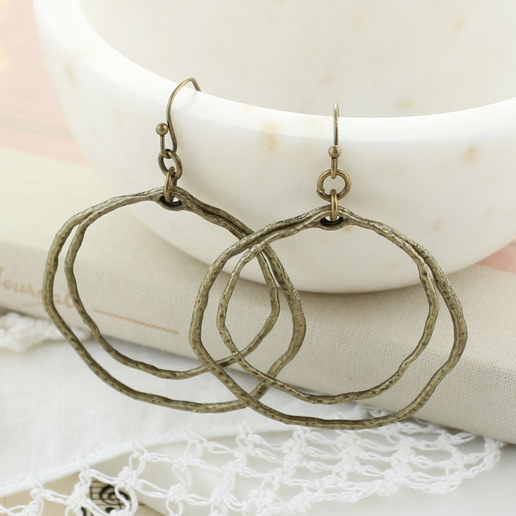 Vintage Double Circle Earrings
