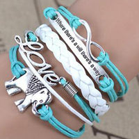 Elephant Love Wrap Bracelet
