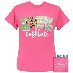 Love Softball Leopard