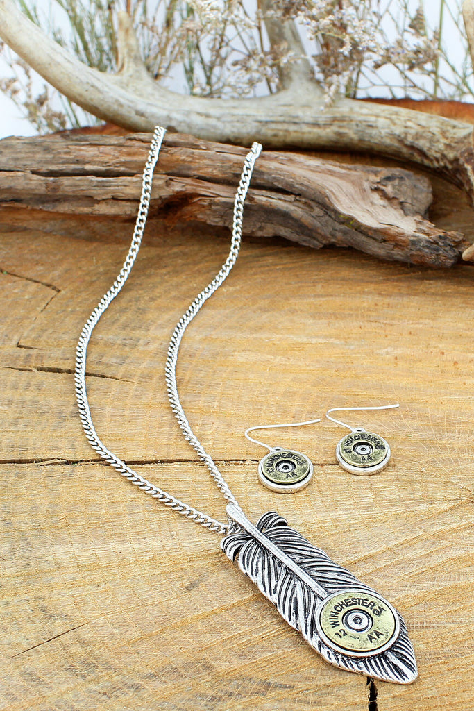 Winchester Feather Necklace Set