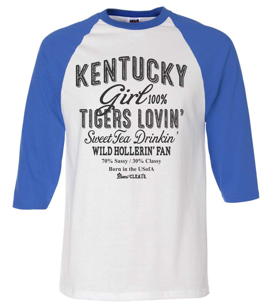 Tigers Raglan Color Baseball Jersey