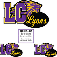 Custom School Decal Set