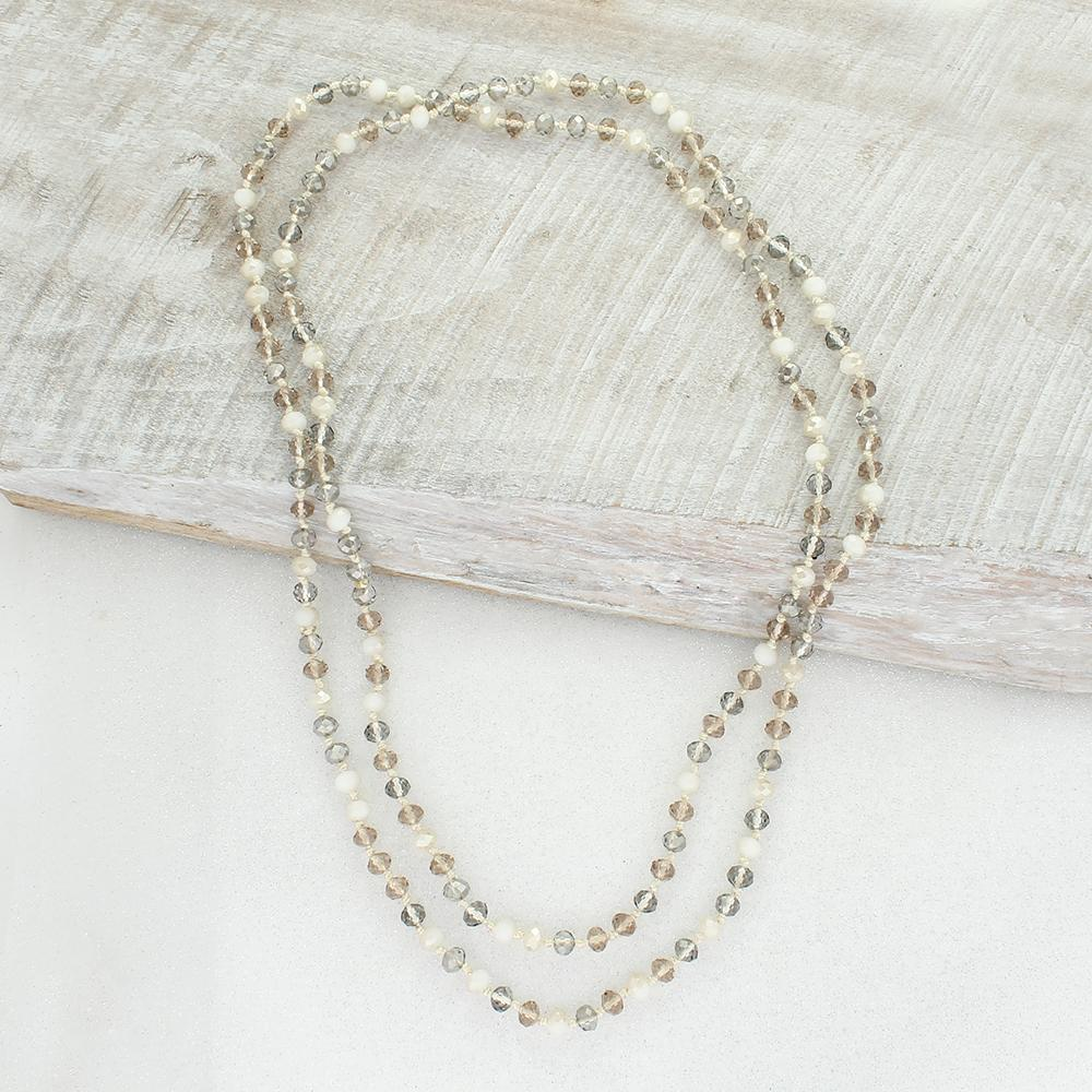 "60"" Ivory Sparkle Knot Necklace"