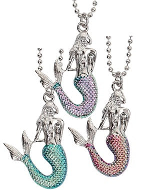 Mermaid with Colored Tail Necklace