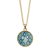 Cami Necklace Navy Mosaic