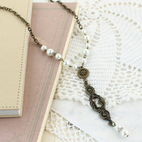 Vintage Pearl Keyhole Necklace