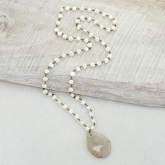 Agate & Pearl Necklace 36