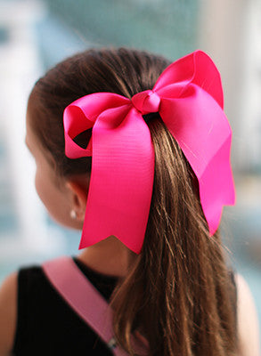 Cheer Hair Bow with Ponytail Ties