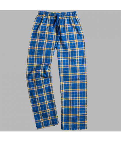 Flannel Pant - Royal & Gold