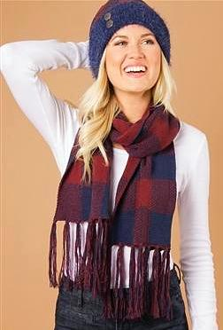 Buffalo Check Straight Scarf