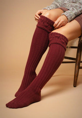 Needle Point Tall Socks