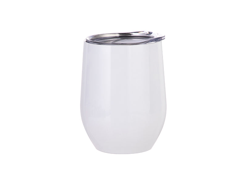 12oz Stainless Wine Tumbler w/Lid