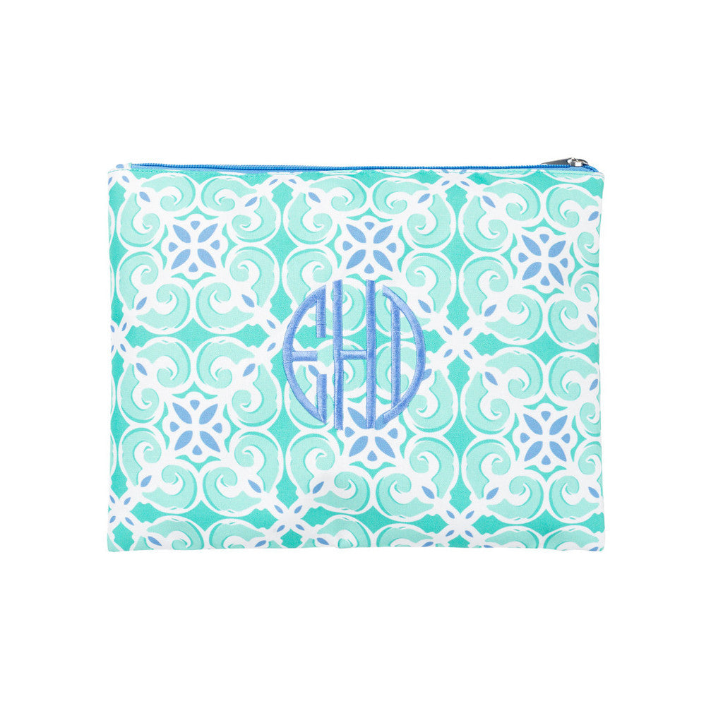 Sea Tile Zip Pouch