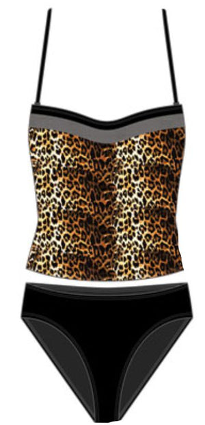 Cheetah Tankini w/Cover Up Wrap
