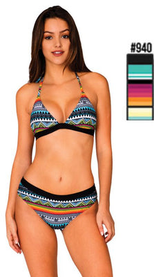 Stripe Triangle Bikini