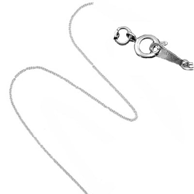 Silver Plated Charm Necklace Chain 18