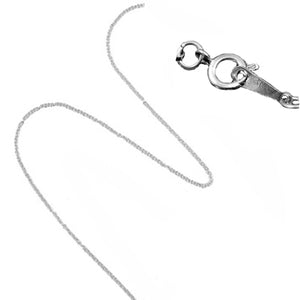 Silver Plated Charm Necklace Chain 18""