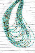Turquoise Multi-Color Seed Bead Necklace