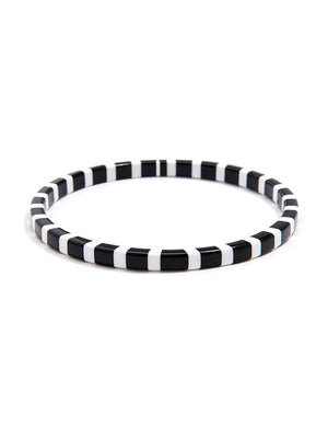 Thin Striped Bangle Bracelet
