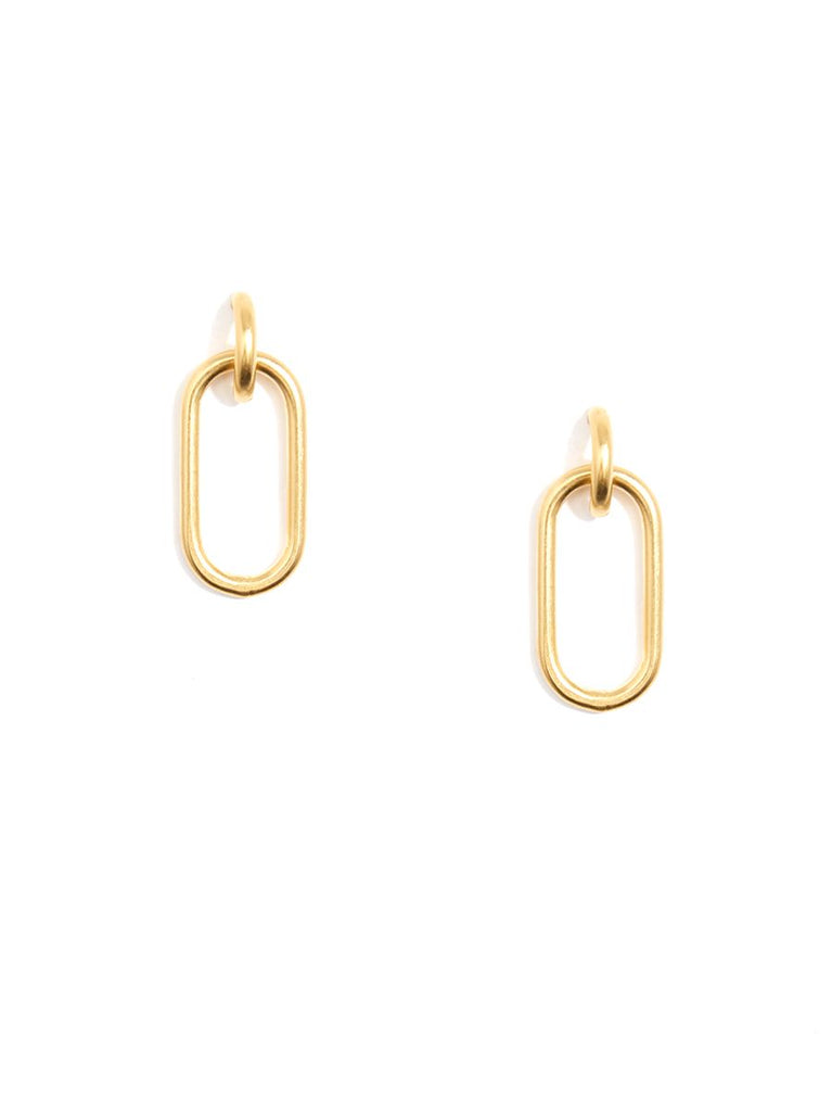 Matte Metal Link Drop Earring