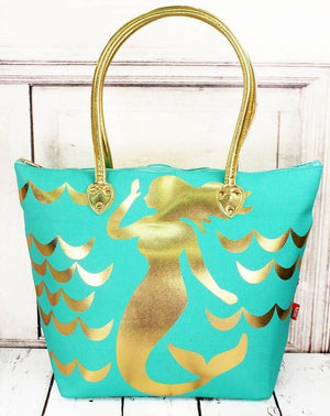 Metallic Gold Shoulder Tote