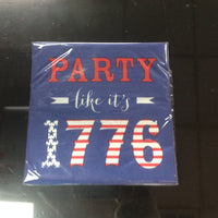 20 count Party Design Bev. Napkins