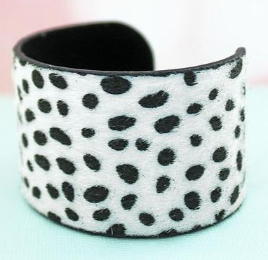 Wide Cuff Cheetah Bracelet