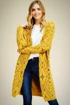 Long Cardigan with Woven Detail
