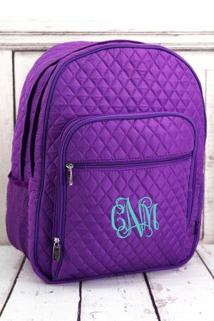 Solid Quilted Backpack