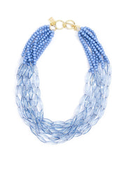Geometric Beaded Lucite Necklace