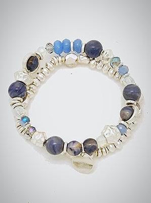 Natural Stone Multi Bead Bracelet