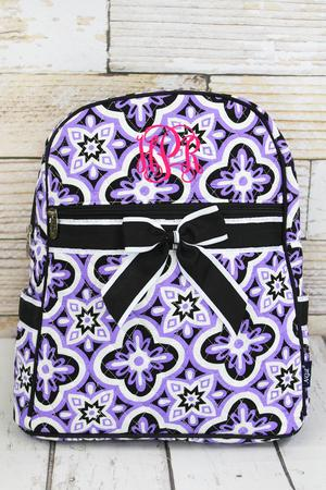 Floral Serenity Quilted Backpack