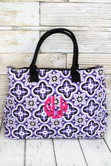 Floral Serenity Quilted Large Shoulder Tote