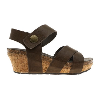 Chantal Taupe Wedge Sandal