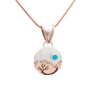 Silver Turquoise Pendant 2108
