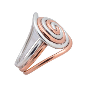 Sterling Silver Ring - HPSilver, Sterling Silver and Copper Ring  RG.FEL.2001