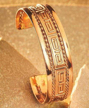 Bracelets Copper Bracelet - HPSilver, Copper Adjustable Cuff BR.HEC.4010