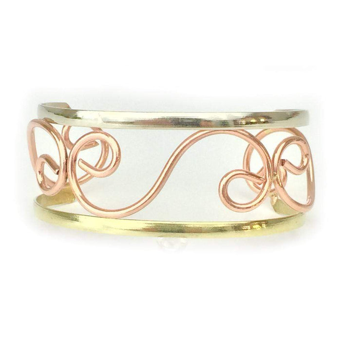 Copper Bracelet - HPSilver, Copper Adjustable Cuff BR.HEC.4011