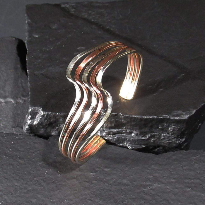 Copper Bracelet - HPSilver, Copper Adjustable Cuff BR.HEC.7002