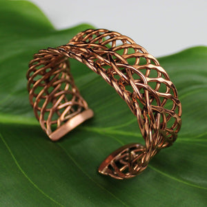 Bracelets Copper Bracelet - HPSilver, Copper Adjustable Cuff BR.ROS.4001