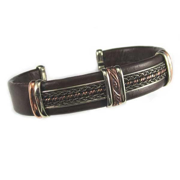 Men's Unique Leather Bracelet 0402