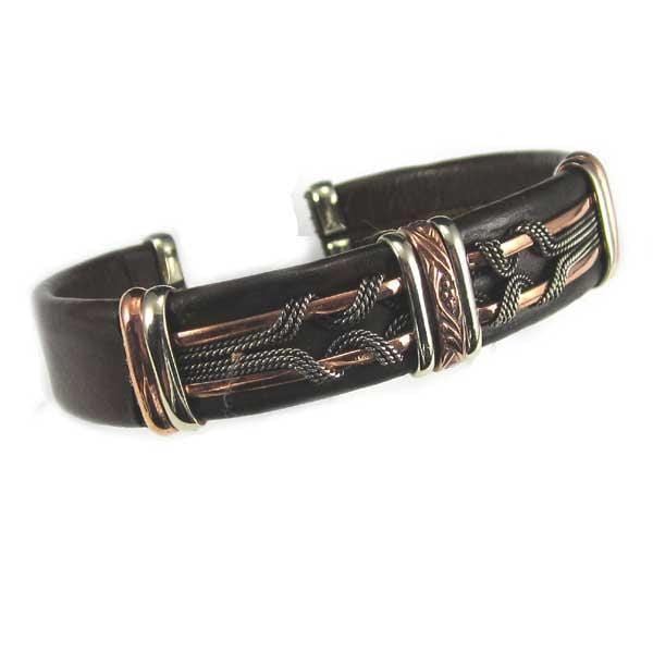Men's Unique Leather Bracelet 0409