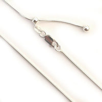 "Chains Sterling Silver Chains - HPSilver, 24"" Adjustable Sterling Silver Chains CH.DAV.1006"