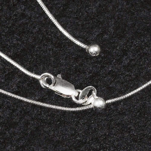 "Sterling Silver Chains - HPSilver, 24"" Adjustable Sterling Silver Chains CH.DAV.1006"