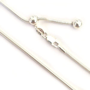"Chains Sterling Silver Chains - HPSilver, 24"" Thick Adjustable Sterling Silver Chains CH.DAV.1109"