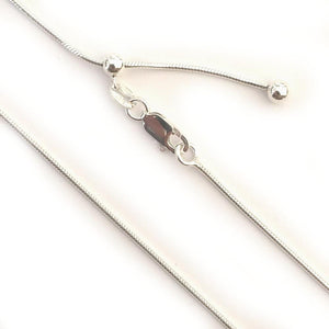 "Sterling Silver Chains - HPSilver, 30"" Adjustable Sterling Silver Chains CH.DAV.1009"