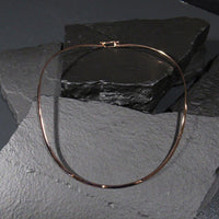 Collars Rose-Gold Collar - HPSilver, Rose-Gold over Brass, Oval with Clasp Collar CL.KIK.8001