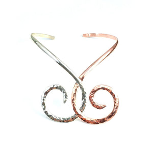 Collars Sterling Silver Collar - HPSilver, Sterling Silver and Copper Collar CL.KIK.2002